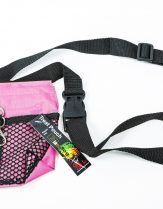 Black Dog Treat Pouch - Pink